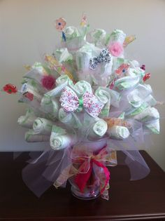 Rose Bouquet Diaper Cake