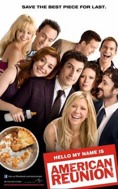 I love the series of American Pie movies! I feel like they are my family almost! The whole American Pie gang returns to make their reunion into the most outrageous weekend since high school. Watch American Reunion on American Pie 4, American Pie Movies, Image American, Alyson Hannigan, Seann William Scott, Tara Reid, 2012 Movie, Movie Tv, Movie Titles