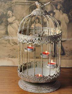 birdcage tea light candle holder, victorian