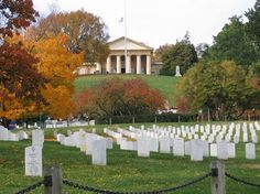 Arlington House was the respected general of the Confederate Army, ROBERT E. LEE's home. The Union Army took it over when the Civil War broke out and transformed it into a cemetery  (Arlington Nat. Cemt.) making sure Lee could never return home again.