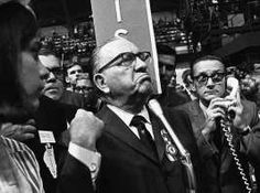 Image detail for -FILE - In this Aug. 28, 1968 file photo, Mayor Richard J. Daley pumps his fist as he speaks from the floor of the Democratic National Convention in Chicago. In the years since 1968, a second Mayor Daley has come and gone. Former Mayor Richard M. Daley, who took over the city 10 years after his father died and then retired last year after 22 years in office, is largely credited for helping to lead the...