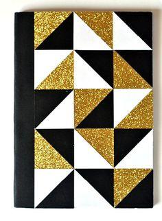 My Geometric Notebook - Schule Ideen Notebook Cover Design, Notebook Covers, School Notebooks, Cute Notebooks, Diy Pour La Rentrée, Diy Agenda, Diy And Crafts, Paper Crafts, Diy Back To School