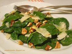 Insalata di spinaci con noci e Parmigiano