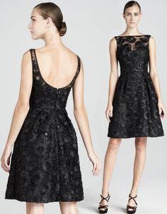 theia lace n sequin cocktail dress