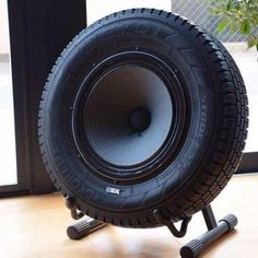 Sub-woofer Speaker Made Out Of An Upcycled Tire