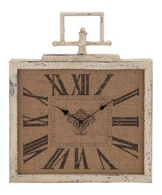Love this Tan Square Wall Clock on #zulily! #zulilyfinds