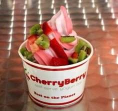 Went to Cherry Berry, a self serve frozen yogert shop on the way home from swimming! Needs to become a tradition!