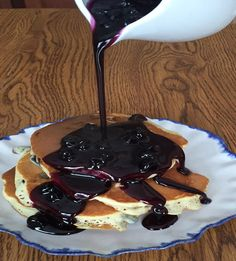 Homemade Blueberry Pancake Syrup Recipe - simply AMAZING!