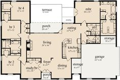 2600 sq ft 4 bed u shaped house plans - Google Search