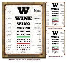 "Wino Eye Chart #winehumor www.LiquorList.com ""The Marketplace for Adults with Taste!"" @LiquorListcom  #LiquorList"