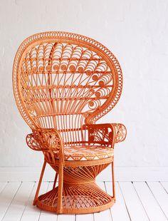Tangerine Peacock Chair
