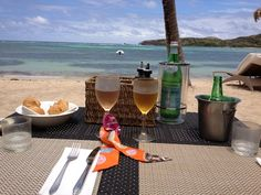 St. Barts Lunch on the beach