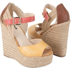adorable & colorful espadrille wedges... $26.99