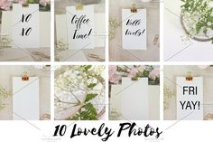 Hello Gold! Lovely Message Bundle Photos **Lovely High Resolution JPEG photos and mockups to use on your blog!**I love how these photos tur by Say Hello Photos