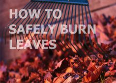 How to Safely BurnLeaves - EMERGENCY WATER AND SMOKE REMOVAL BLOG - Atlanta Fire, Water & Storm Damage Restoration   Champion Construction Systems