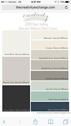 readers favorite paint colors color palette monday pinterest