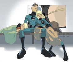 MR. FANTASTIC and INVISIBLE WOMAN by Sean Galloway