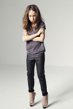 zara kid fashion-coated denim