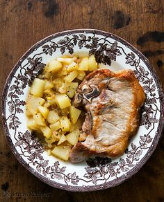 Pork Chops with Ginger Pear Sauce on Simply Recipes