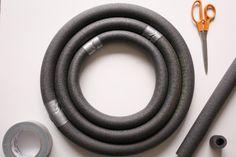 pipe insulation/plumbers tubing for wreath foam
