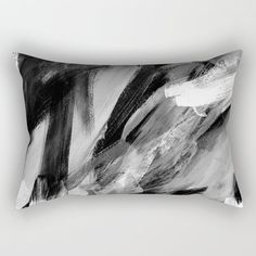 Abstract Artwork Greyscale Rectangular Pillow by Kathrinmay - Small x Back Pillow, Lumbar Pillow, Down Pillows, Throw Pillows, Monochrome Photography, Accent Pillows, Don't Care, Pillow Inserts, Hand Sewing