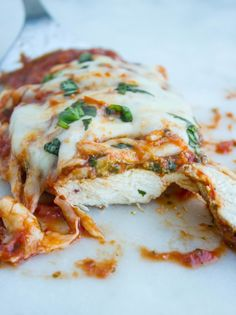 Grilled chicken Parmesan- sprinkled on some gf bread crumbs on top of chicken before adding sauce and cheese.