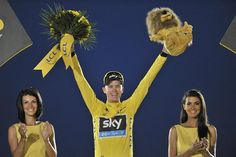 Not content with just winning the Tour de France, Chris Froome closed out the race in Paris last night with the dignified pledge that he was a clean champion who the public could believe in. Versailles, Chris Froome, Olympians, Secret Obsession, Paris, Cycling, Celebrations, England, Pictures