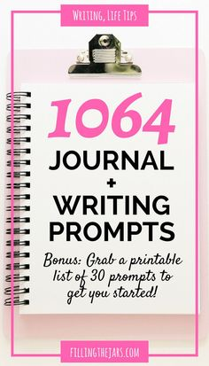 More than 1000 journal prompts | { +30 printable writing prompts } Journaling helps you let go of what's in your head and get on with life. Click through for over 1000 journal prompts... | http://www.fillingthejars.com