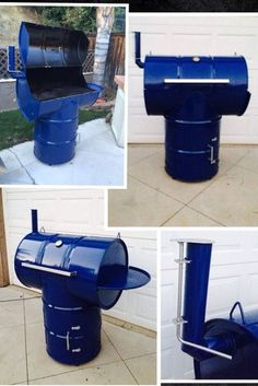 Ugly drum smoker bbq project my boys and i did from two oil drums. Use as a smoker or a bbq. Even has a fold down side shelf made from another drum bottom and a charcoal box for the bbq charcoal ashes. Bottom has a door that opens for smoker fire. Metal Projects, Welding Projects, Outdoor Projects, Home Projects, Projects To Try, Barbacoa, Bbq Grill, Grilling, Ugly Drum Smoker