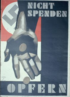 ww2.hitler.nazi poster - winter aid - sacrifice.cientizta Another sinister German poster.