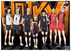 Haikyuu Akaashi Keji, Bokuto Koutarou, Tsukishima Kei, Hinata Shoyou, Kageyama Tobio, Kuroo Tetsurou & Haiba Lev