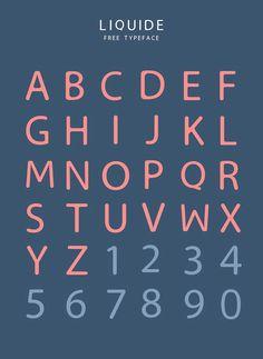 Liquide, tipografía moderna gratuita