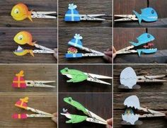 clothespin recycled animals craft