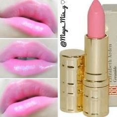 Elizabeth Arden baby pink lipstick. Beauty Tips For Hair, Health And Beauty Tips, Beauty Secrets, Beauty Hacks, Hair Beauty, Pretty Makeup, Makeup Looks, Be Your Own Kind Of Beautiful, Pink Lipsticks