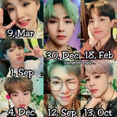 Who got nearest same birthday with them and which one? - - Dont forget to tag ur friends 😙✨ Hoseok, Namjoon, Taehyung, Bts Bangtan Boy, Bts Boys, Bts Happy Birthday, Bts Birthdays, Twitter Bts, Bts Drawings