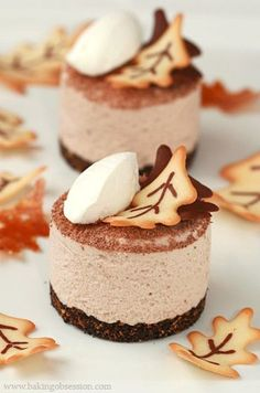 Plated Chestnut Mousse... such a pretty fall dessert!