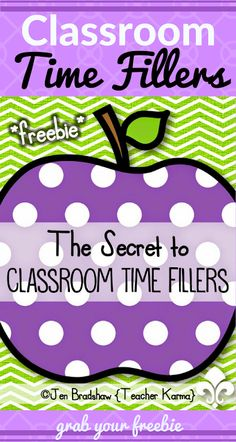 Classroom Time Fillers: Free Games and Activities for Transition Times Hello! JenBradshaw here fromTeacherKARMA.com Improve transition times in the classroom...Time fillers that actually have a point and purpose in the classroom. Grab this free resource Classroom Time Fillers: Games & Activities for Transition Times. Some of the activities include: Would You Rather? What Am I? Vocabulary Edition Pass the Story On Act it Out What Am I? Number Edition Around the World Vanishing Vowels It…