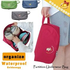 [S$6.90](▼66%)[Golden Egg]▶Water-Repellent Undergarment Travel Organiser◀GBC GEA-Partition Underwear Bag/ Storage organiser/ Comes with a handle for easy portability/ D31 model-4 colors