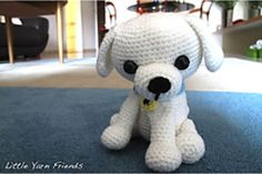 Lil' Kino the Puppy: This little puppy is a custom request from my colleague, Kelvin. He asked if I could crochet a little maltese puppy that look like his dog, Kino. Lil' Kino the Puppy is approximately tall and wide x This will definit. Crochet Hook Sizes, Knit Or Crochet, Crochet Toys, Free Crochet, White Puppies, Little Puppies, Little Dogs, Stuffed Animal Patterns, Dinosaur Stuffed Animal
