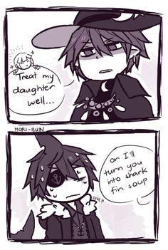 history of Samekichi and meikai XD . Meikai just protect his beloved doughter :v