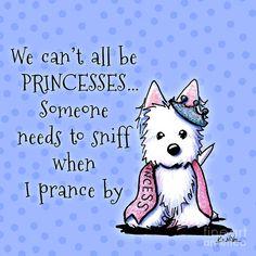 ❤️KiniArt ~ Westie Princess by Kim Niles