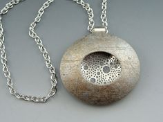 Contemporary polymer clay pendant necklace by StonehouseStudio, $50.00   www.stonehouse-studio.com
