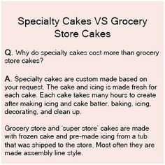 cake prices- by, Breanne Weber