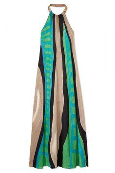 Salvatore Ferragamo dress, $4,450, available April 22, shopBAZAAR.com.   - HarpersBAZAAR.com