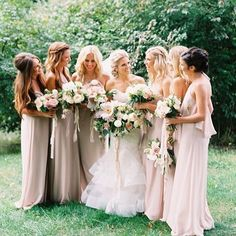 The sweetest mix of powder and sand #NouvelleAmsaleBridesmaids!   Photo by @AnnieParishPhoto via @stylemepretty