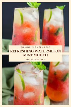 Find easy-to-make comfort food recipes like Healty recipes, dinner recipes and more recipes to make your fantastic food today. Mojito Drink, Mint Mojito, Watermelon Mint, Easy Drink Recipes, Nut Recipes, Dinner Recipes, Healthy Recipes, Mojito Recipe, Fresh Lime Juice