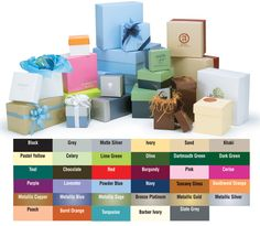 inexpensive and beautiful gift photo boxes Special Order High Wall Coloured 2 Piece Boxes