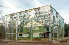 Oving Architecten envelopes former concentration camp house in glass box | Inhabitat - Sustainable Design Innovation, Eco Architecture, Green Building