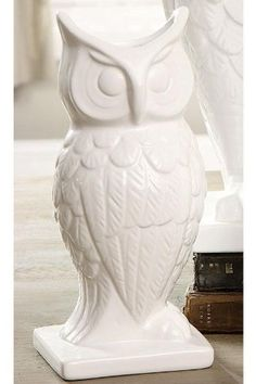 """Owl Vase, SMALL, WHITE by Home Decorators Collection. $14.00. Tall: 13.5""""H x 7""""W x 5.75""""D.. Wide: 9.25""""H x 7.25""""W x 5.75""""D.. Small: 9.5""""H x 4.5""""W x 4.25""""D.. Expertly crafted of dolomite and finished in white, our Owl Vases will add personality to your blooms. Associated with wisdom, the owl is a beautiful design touch that complements a variety of decor aesthetics. Place your order today and add enjoyment to your next bouquet of flowers. Crafted of top-quality materials wit..."""