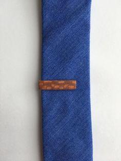 Skinny Tie  Tie Clip Tie Bar in leopard wood